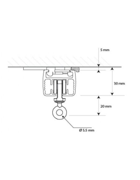 Przekrój karnisza elektrycznego Comfort Line