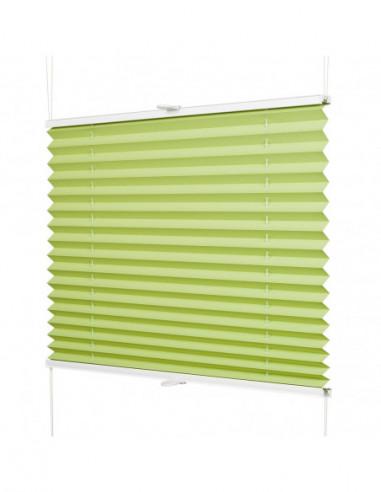 Plisa okienna bezinwazyjna Cube zielony