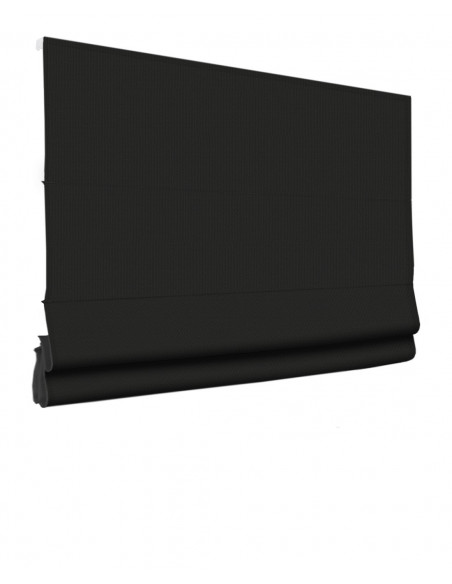 Roleta elektryczna rzymska 24V na smartfon i automatykę Layla czarny klasyczna