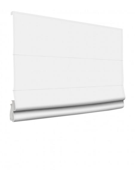 Roleta elektryczna rzymska 24V na smartfon i automatykę Magnato biały klasyczna