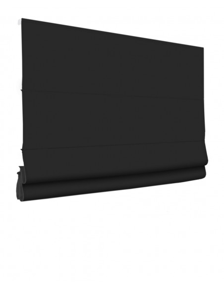 Roleta elektryczna rzymska 24V na smartfon i automatykę Magnato czarny klasyczna