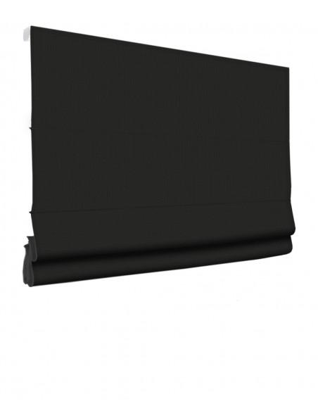 Roleta elektryczna rzymska 230V na smartfon i automatykę Layla czarny klasyczna